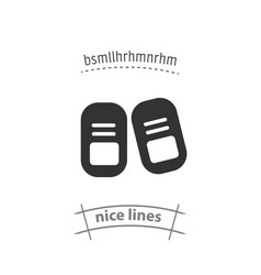 Baby shoes isolated icon design element vector