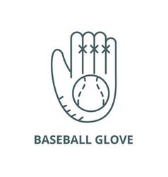 baseball glove line icon linear concept vector image