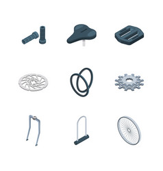 Bike parts bicycles components mechanical saddle vector
