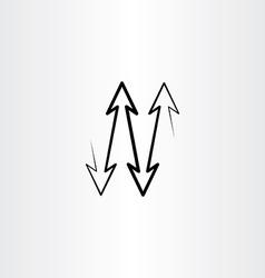 black arrows up down vector image