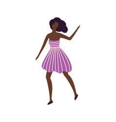 black skin girl dancer in good mood having fun vector image