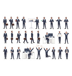 Business man male office worker or clerk with vector
