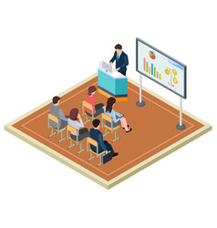 Business training or presentation isometric vector