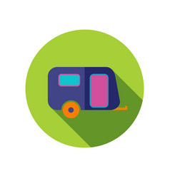 Camping trailer icon summer vacation vector