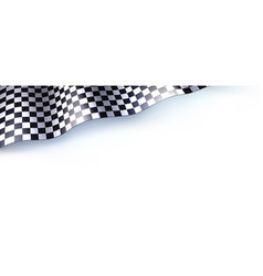 car race or motorsport rally flag on white vector image