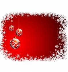 christmas with red glass vector image
