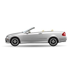 Classic convertible on white background original vector