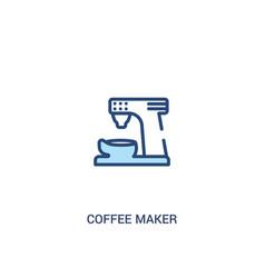 Coffee maker concept 2 colored icon simple line vector
