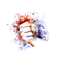 Color of a clenched hand vector