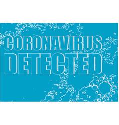 Coronavirus detected words on background vector