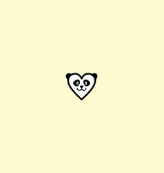 cute panda love logo icon vector image