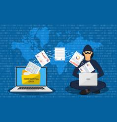 data phishing hacker attack vector image
