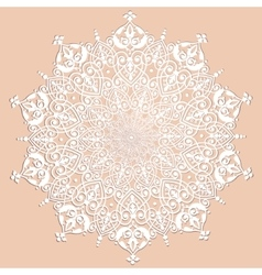 Decorative white ornament vector