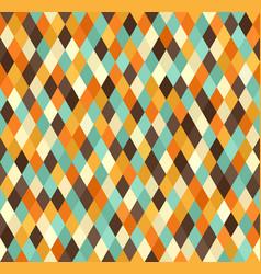 Diamond pattern seamless retro background vector