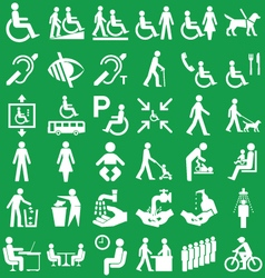 Disability and people graphics vector