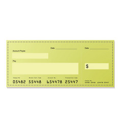dollar cheque vector image