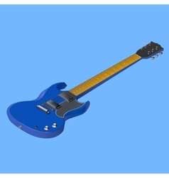 electric guitar isometric vector image