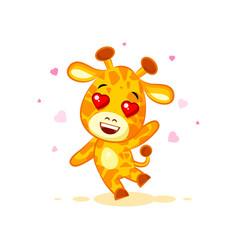 Emoji hello hi waving in love hearts you are cute vector