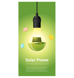 energy concept background with solar panel in vector image