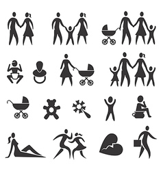 Family life icons vector