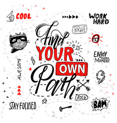 find your own path poster vector image