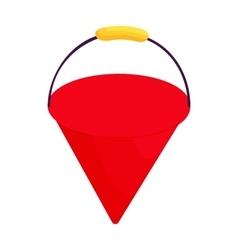 Fire bucket icon cartoon style vector