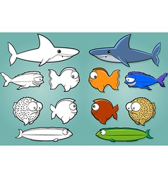 Fish Cartoon Set vector