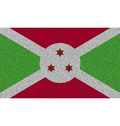 Flags Burundi on denim texture vector