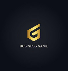 g initial gold logo vector image