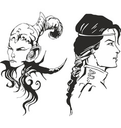Girls amazons vector