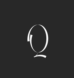 Handwriting cursive letter q logo monogram vector
