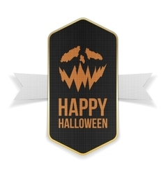 Happy Halloween Banner Design with Text vector image