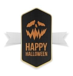Happy Halloween Banner Design with Text vector
