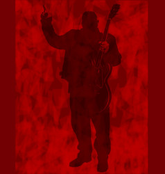 Heavy guitarist background vector