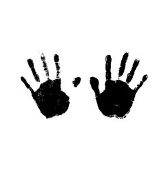 human palm imprints simple black detailed vector image