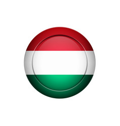 hungarian flag on the round button vector image