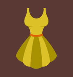 Icon in flat design fashion clothes fluffy dress vector