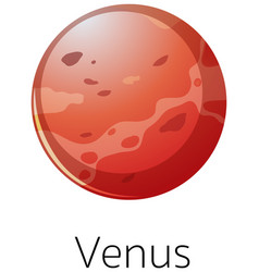 Isolated venus on white background vector