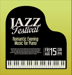 Jazz festival piano evening vector