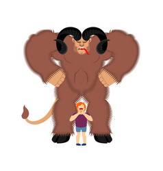 krampus anti santa claus for bad kids scary vector image