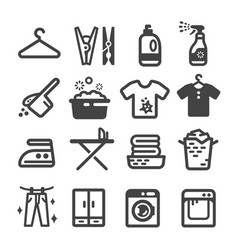 Laundry icon vector
