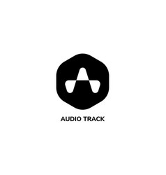 Letter a alphabetic logo liquid sound wave logo vector