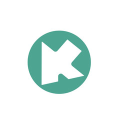 Letter ak arrow geometric logo vector