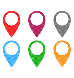 Locator pins in various patterns vector