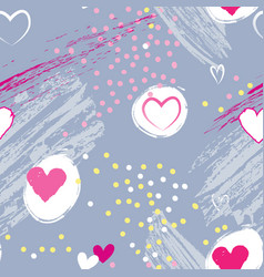 love valentines day seamless background vector image