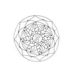 Mandala Ethnic decorative element Hand drawn vector