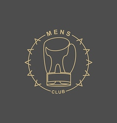 Mens Club logo Emblem for sports club for men Sign vector image