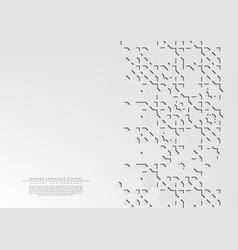 Modern arabesque hexagonal white pattern arabic vector