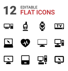 monitor icons vector image