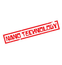 nano technology rubber stamp vector image